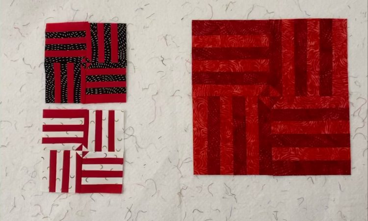 cherry red quilt blocks
