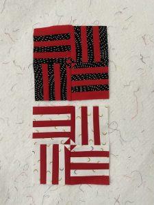 small cherry red quilt blocks