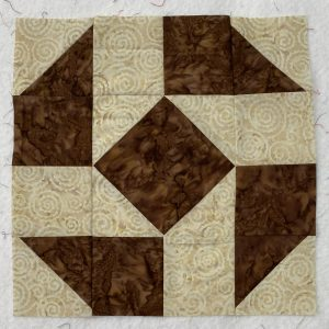 Big Potato Brown Quilt Block