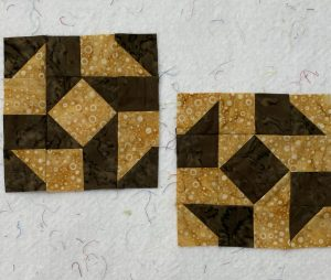 small april potato borwn quilt block