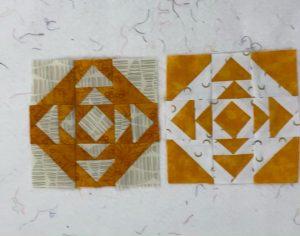 small orange quilt blocks