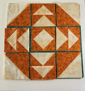 pumpkin orange quilt block