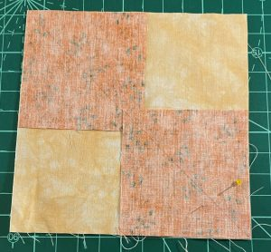 pumpkin orange squares for quilt blocks