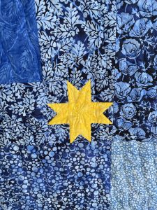 Star quilting on Altair quilt