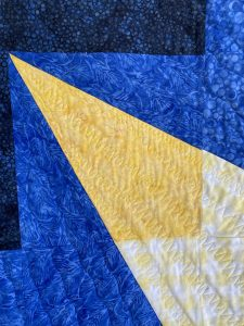 Quilting detail of Star Tail on Altair Quilt
