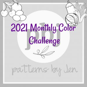 2021 Monthly Color Challenge Logo