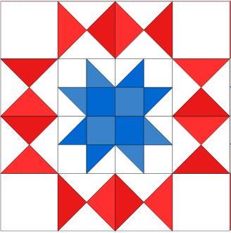 americana star block from True Blue Quilts