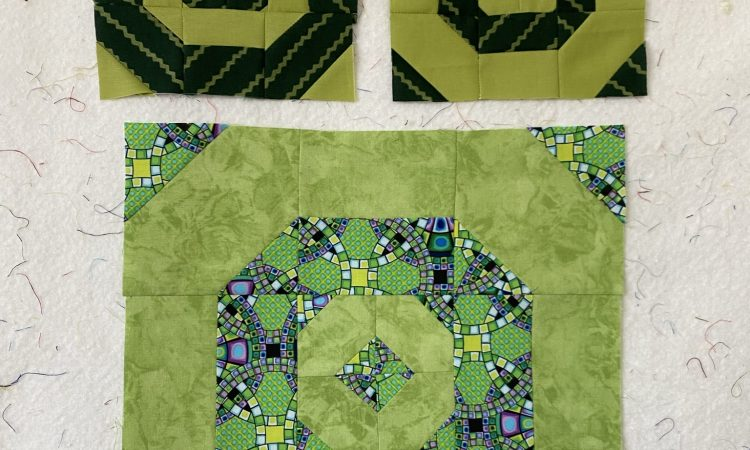 july lime green quilt blocks