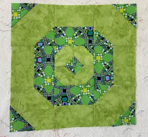 large lime green quilt block