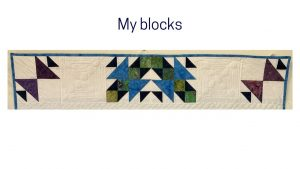 Blocks from Traveling Puzzle quilt