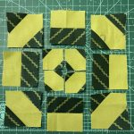lime green quilt block