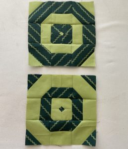 small lime green quilt blocks