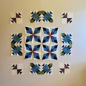 Traveling Puzzle quilt layout