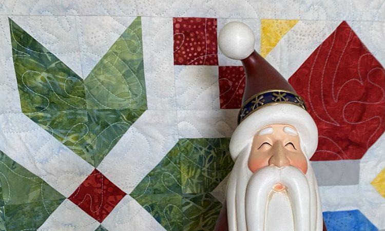 santa and quilt blocks