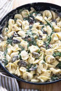 spinach-mushroom-tortellini