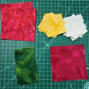 Island Batik fabric squares