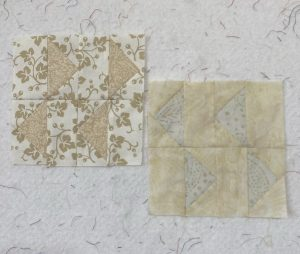 mushrooms and quilt blocks 2021 monthly color challenge