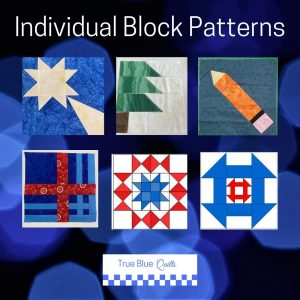 Individual Block Patterns from True Blue Quilts