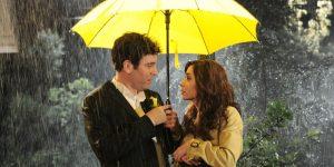 yellow umbrella scene from How I Met Your Mother